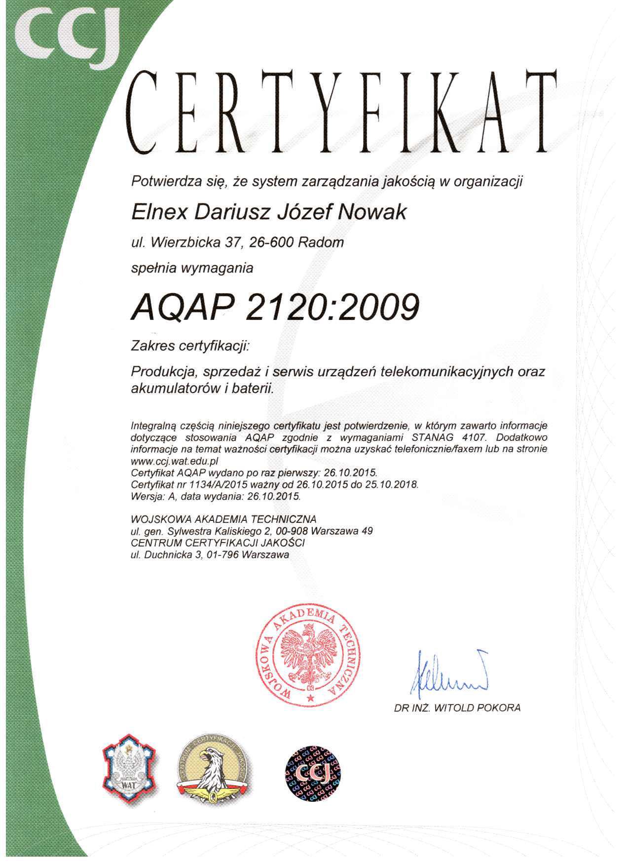 ISO 9001:2008 ELNEX