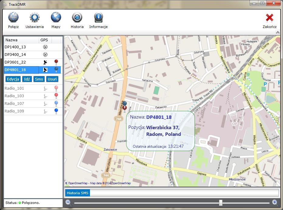 TrackDMR aplikacja dla Mototrbo