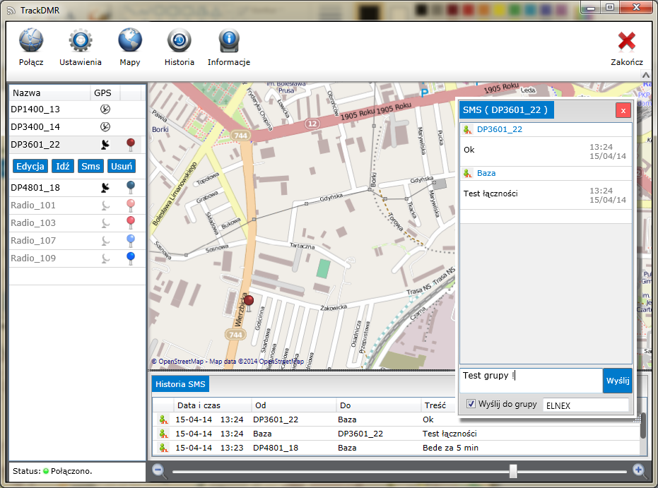 TrackDMR aplikacja do Mototrbo